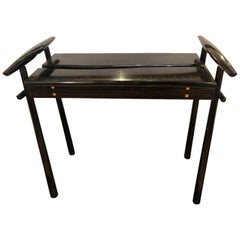 "David Ebner ""TORii"" End Table Side Table Ebony Wood Signed 'DNE 84'"