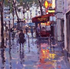 Evening Reflections, Paris   Paris original City landscape painting