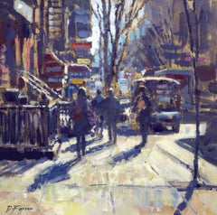 February Sun, Greenwich Village New York  original City landscape painting
