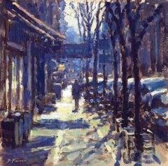 February Sun New York  original City landscape painting