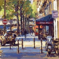 Late Summer  Paris original City landscape painting