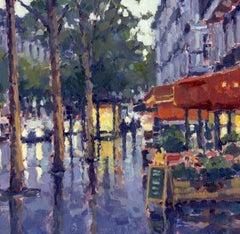 Morning Lights, Paris,  original City landscape painting