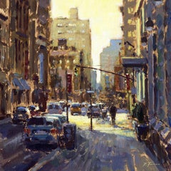New York Morning Light original City landscape painting