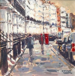 Oakley Street Chelsea London SW3 - original Cityscape painting contemporary