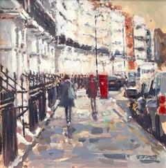 Oakley Street Chelsea London SW3 - pastel landscape painting contemporary people