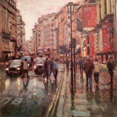 Outside the Royal Academy original City Landscape painting