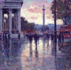 Sunset St Martins - original Cityscape painting Contemporary Art