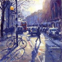 Zebra Crossing Kings Road -Chelsea London SW3 original cityscape modern painting