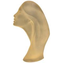 David Fisher 1962 Stargazer Mate Lucite Sculpture Bust Art Deco Woman