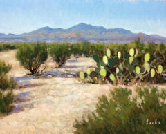 Creosote, Cactus and Chisos, Oil Painting