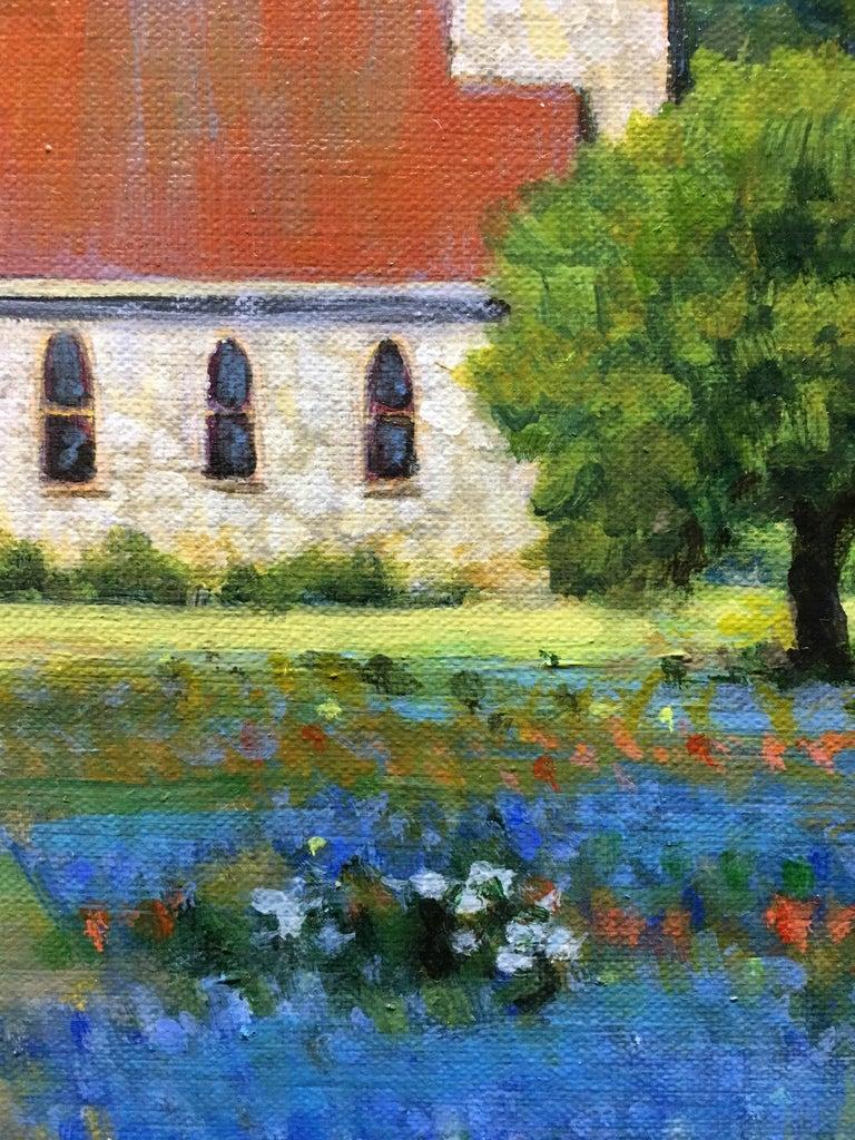 Easter Again - Black Landscape Painting by David Forks