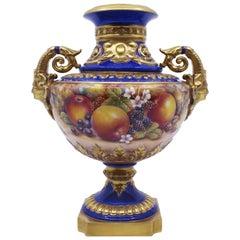 David Fuller Hand Painted Fruit Cabinet Vase