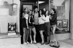 Bruce Springsteen with teenage fans