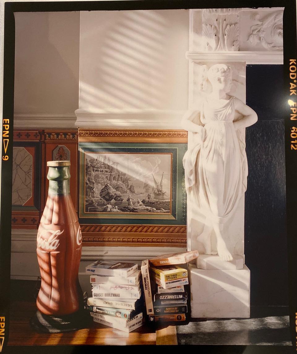 Andy Warhol's Coke Bottle & VHS Movies in Bedroom
