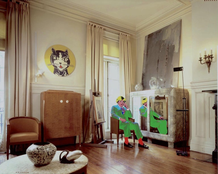 David Gamble Color Photograph - Andy Warhol's Living Room, NYC
