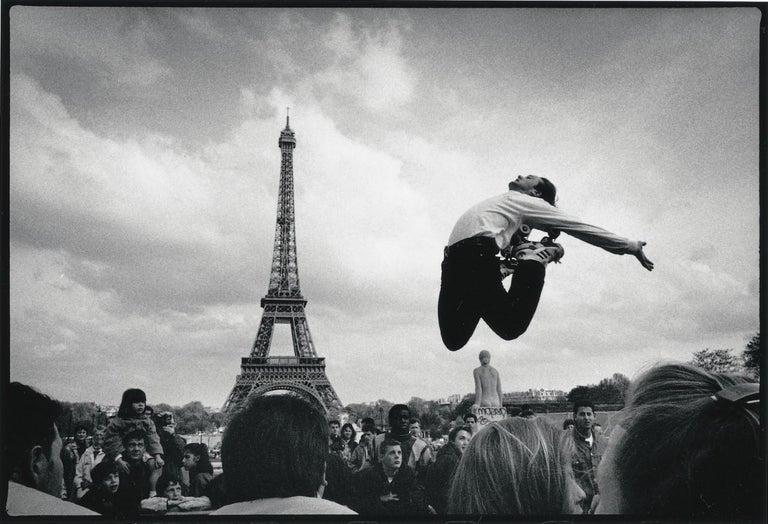David Gamble Black and White Photograph - Paris Jump