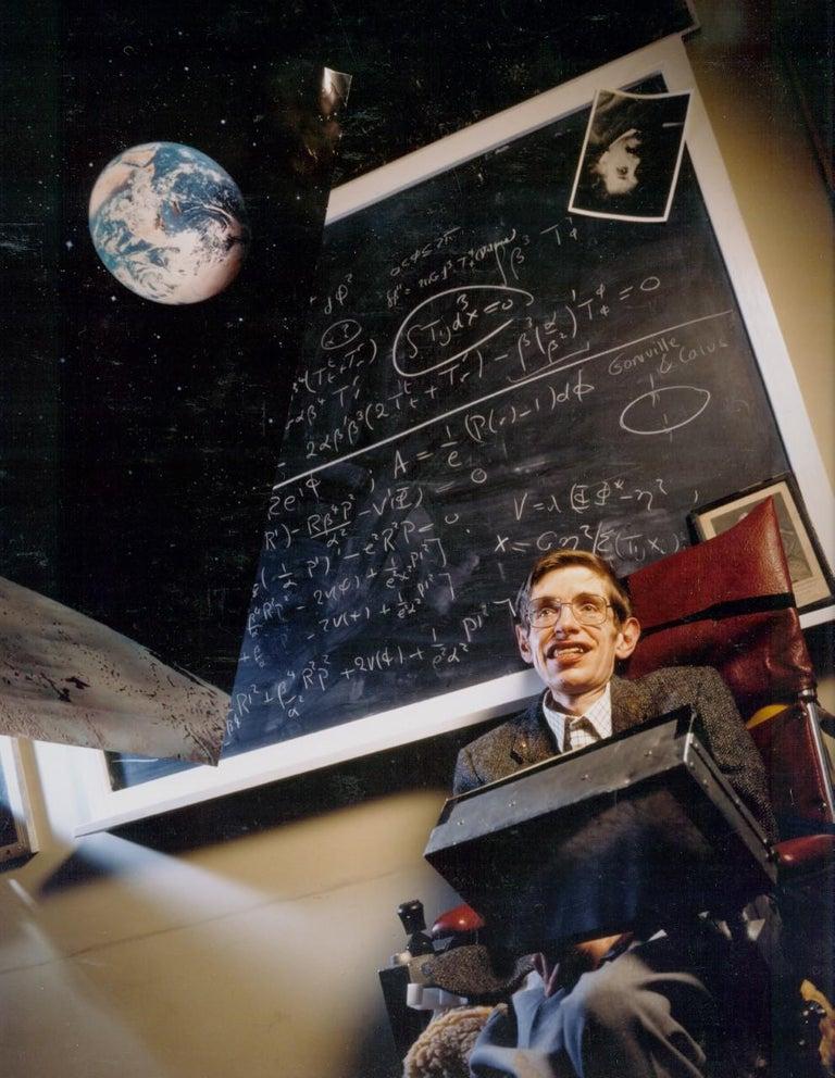 David Gamble Color Photograph - Stephen Hawking