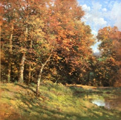"""Autumn"" oil on canvas, post-impressionist style"