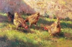 Quatre poules
