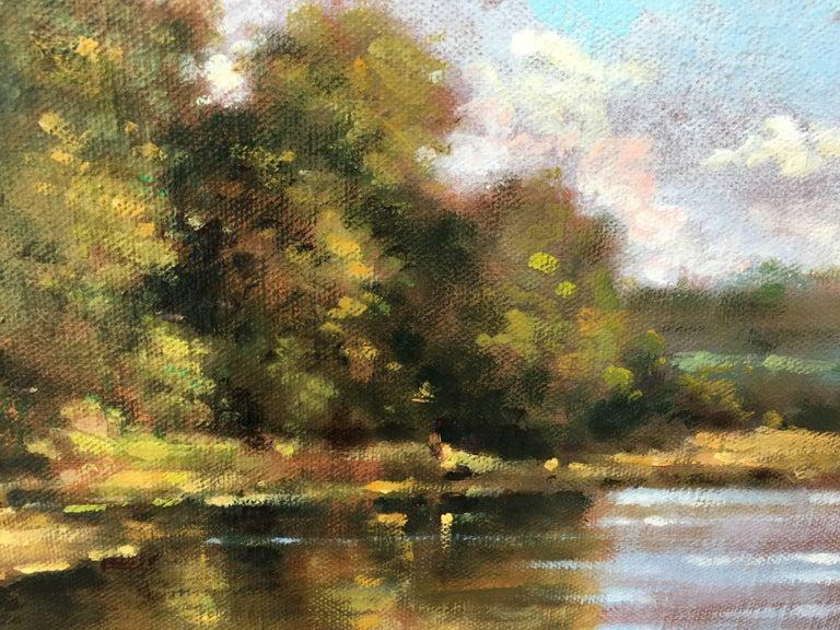 Vue sur la Loire - Painting by David Garcia