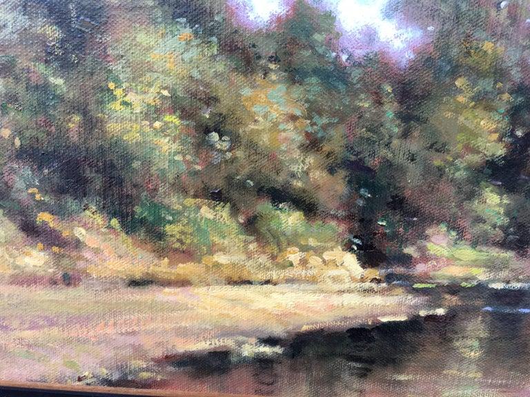 Vue sur la Loire - Impressionist Painting by David Garcia