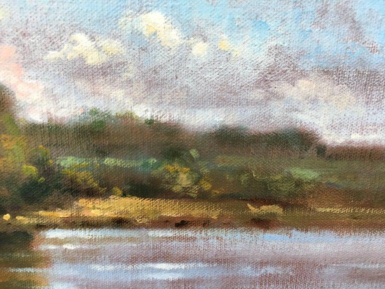 Vue sur la Loire - Brown Figurative Painting by David Garcia