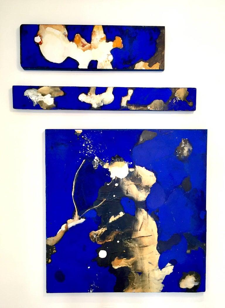David Geiser Abstract Painting - Blue Surge Horizon