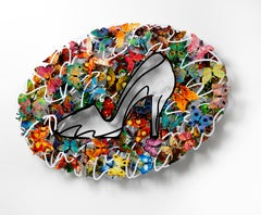 """Cinderella"", 3D Hand-painted Metal Wall Sculpture"