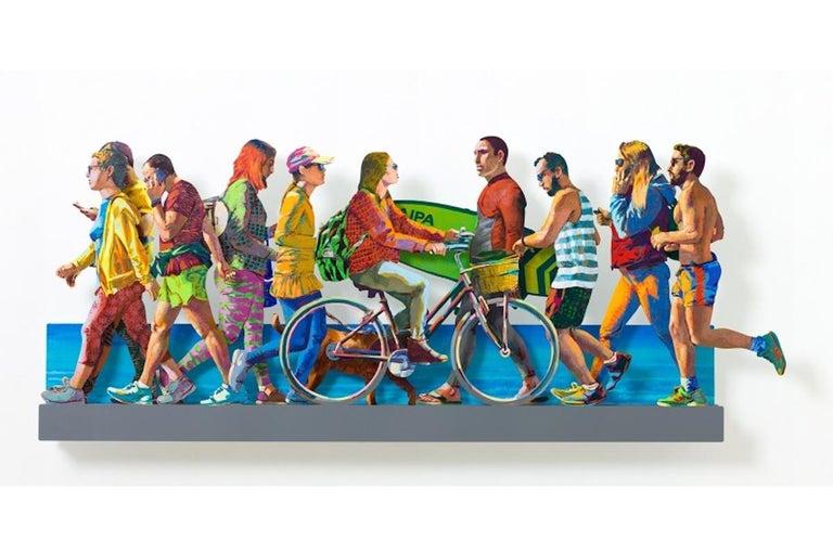 David Gerstein Figurative Sculpture - TLV Beach Promenade (left side)