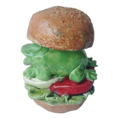 David Gilhooly, Frog Sandwich Sculpture, Pop Art, Signed, Dated