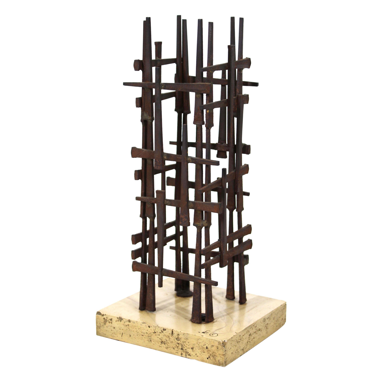 David Grossman Brutalist Modern Nail Sculpture