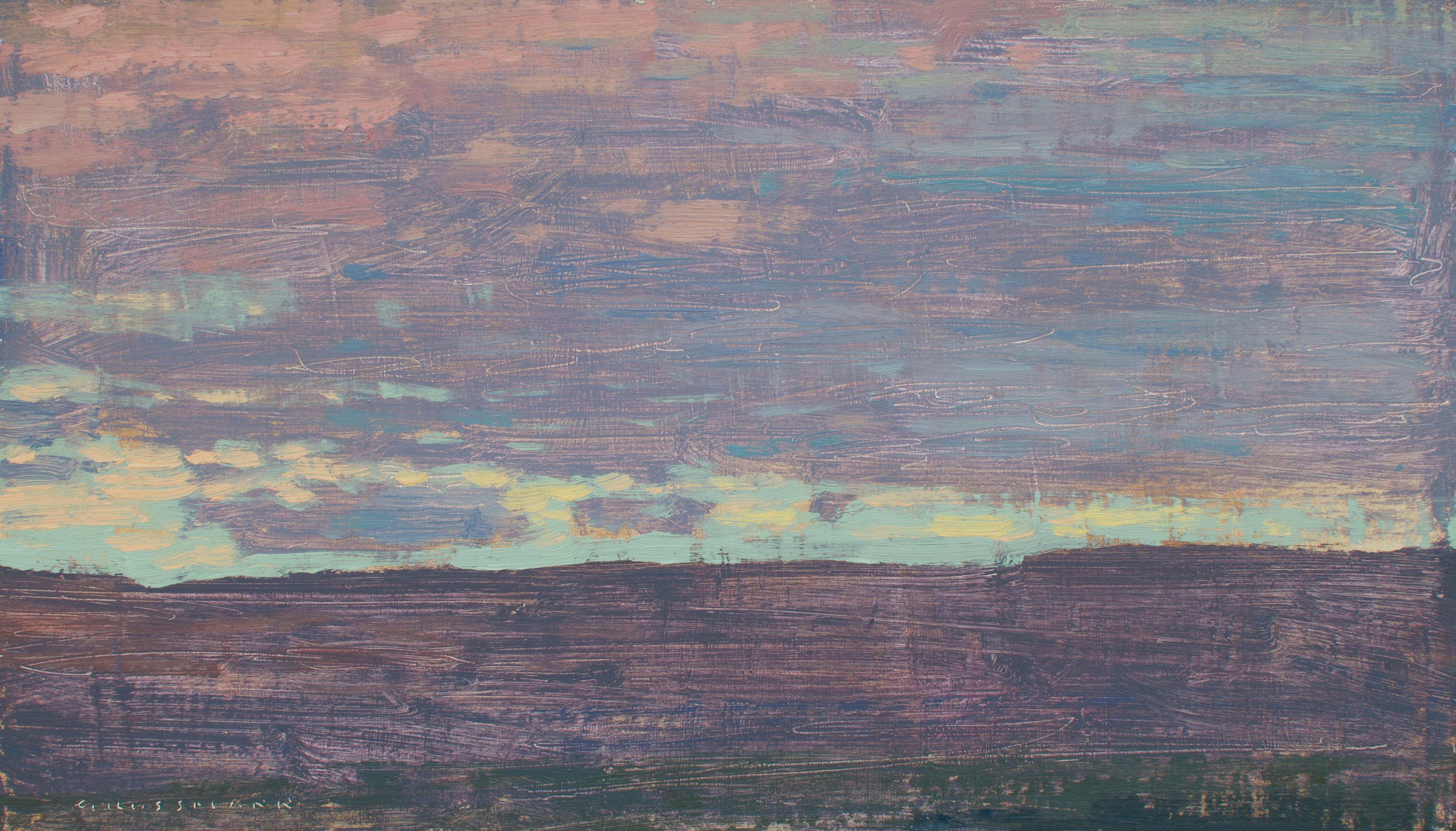 """""""Evening View to the South West"""" , Oil Painting"""