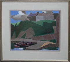 Caithness Harbour - Scottish Cubist art marine oil painting Founder 1922 Group