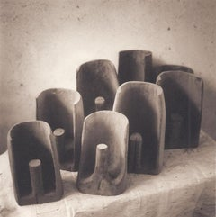 Bailers (Sepia Toned Still Life of Hand Carved Bailers from Ancient Tonga)