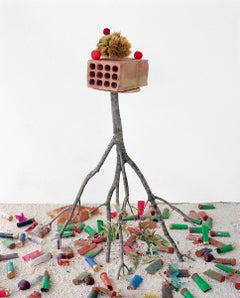 Brick, Chestnut, Shotgun Shells: Figurative Color Still Life Photograph