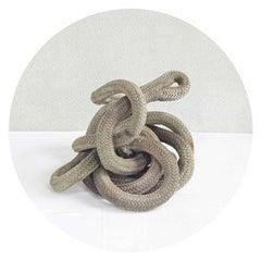 Coiled Rope (Contemporary, Circular Nautical Still Life)