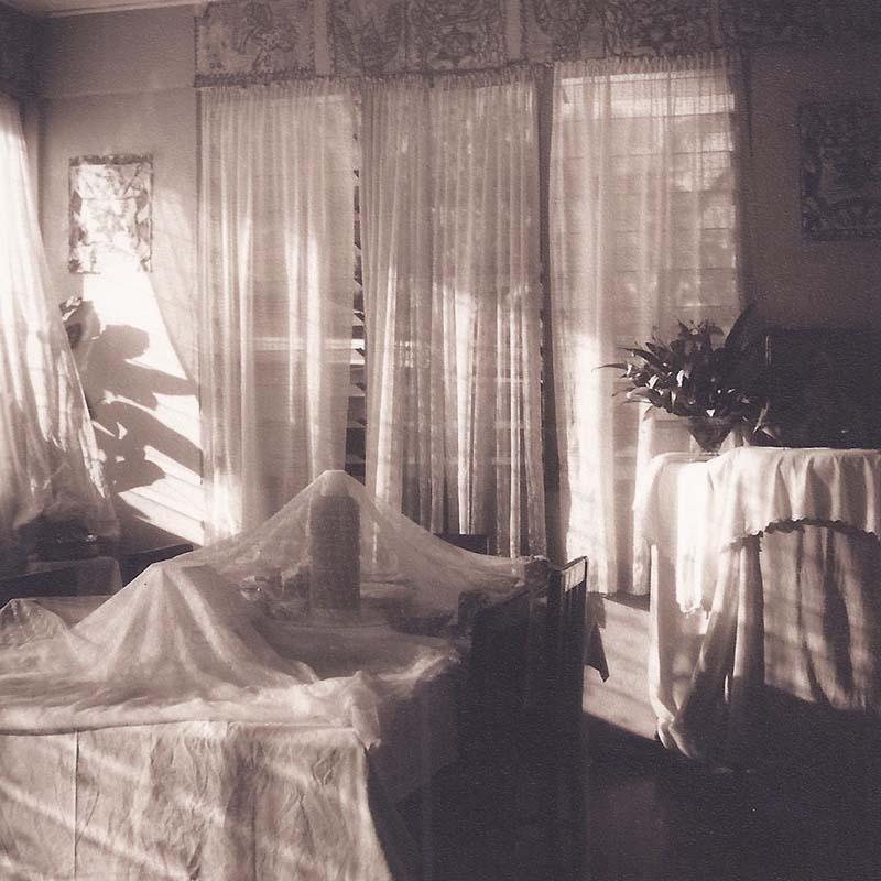 Petit Dejeuner (Sepia Toned Still Life of a Breakfast Room in Tonga)