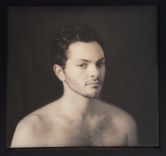 Portrait of a Man (Framed Sepia Toned Figurative Photograph by David Halliday)