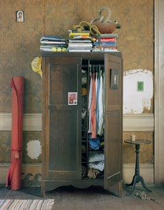 Wardrobe (Still Life Photograph of an Interior with Clothing and Books)