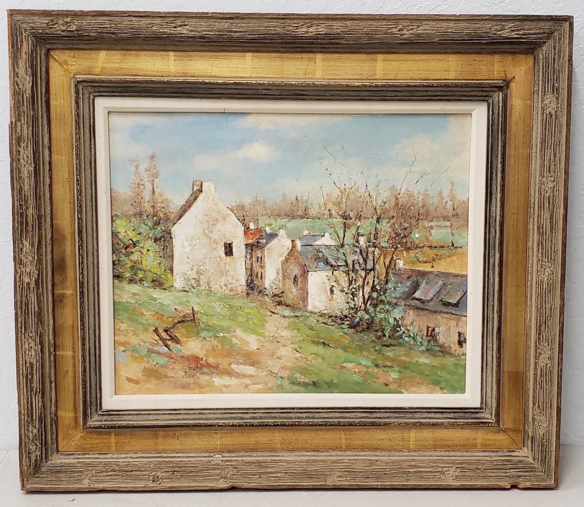 "David Harris (American, 20th c.) ""Normandy Spring"" Original Oil Painting"