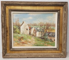 "David Harris (American, 20th c.) ""Normandy Spring"" Original Oil Painting"