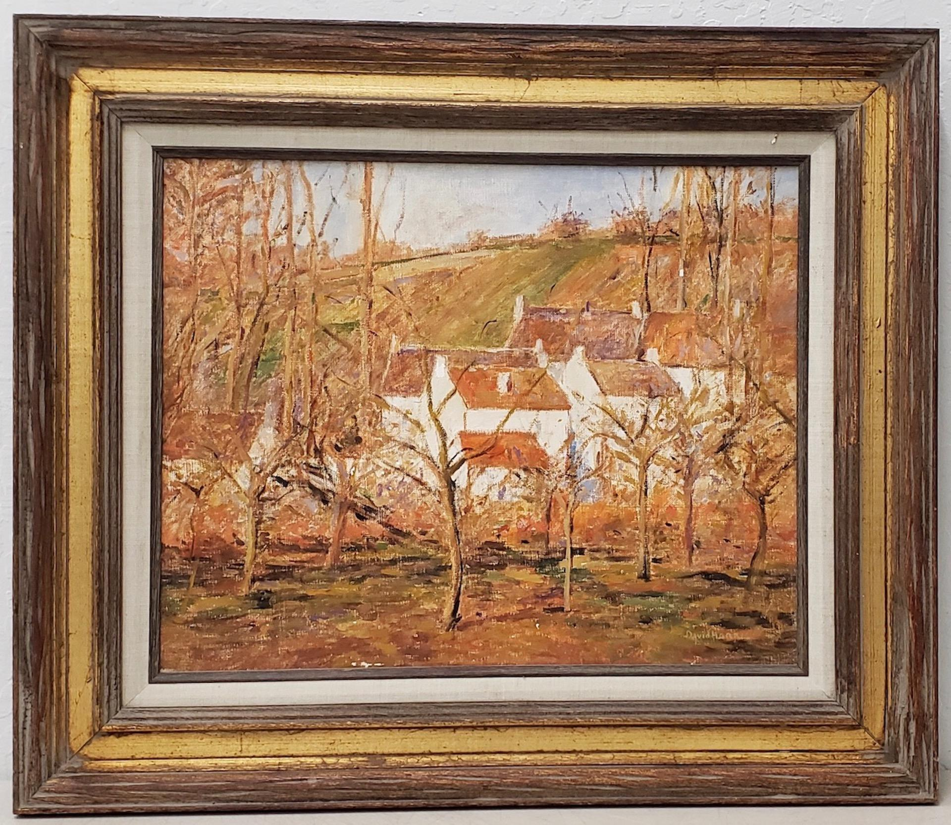Forest View of a Village in Normandy by David Harris (American, 20th c.)