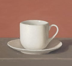 The Lily Cup, Oil Painting, American Realism, Still-life, Small painting,Realist