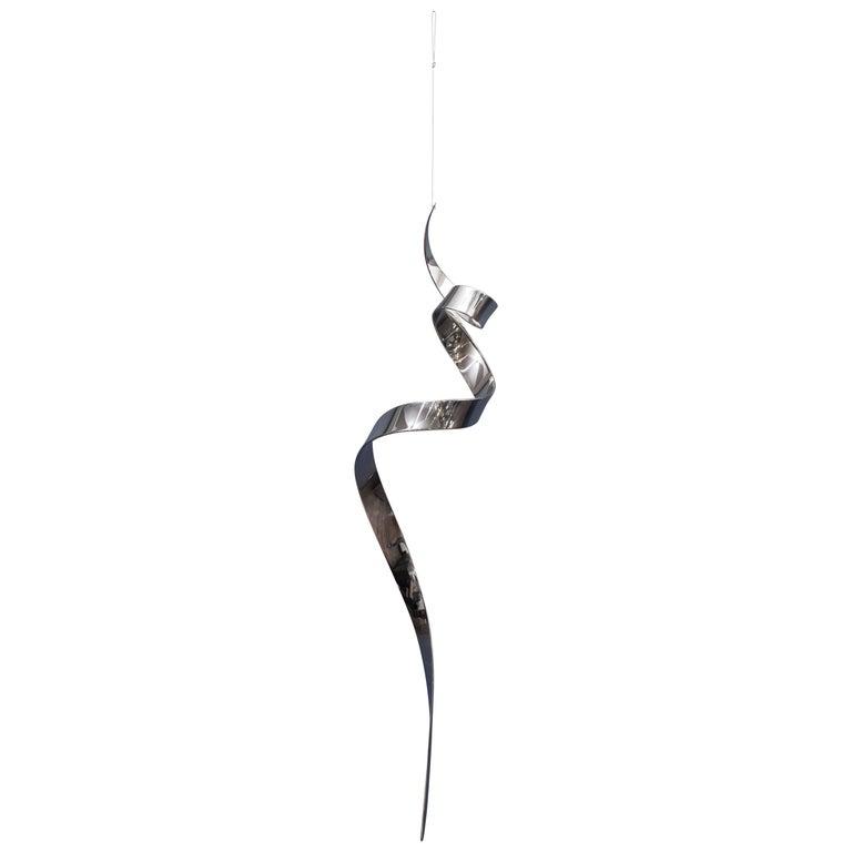 """David Herschler """"Moving Ribbons"""" Hanging Sculpture For Sale"""