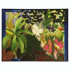 Modern Idealized Tropical Floral Painting