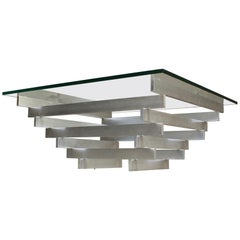 David Hicks Aluminium Kinetic Table