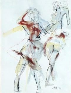 Pas de Duex  Ballet Dancers Modernist Study