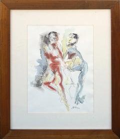 Two Nude Figures - Modernist Figure Study