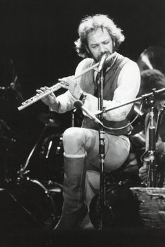 Ian Anderson of Jethro Tull Playing Flute Vintage Original Photograph