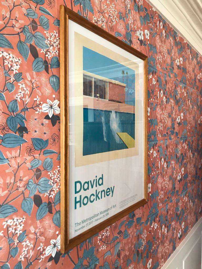 Contemporary David Hockney Lithograph Poster 'A Bigger Splash', New York, 2017 For Sale